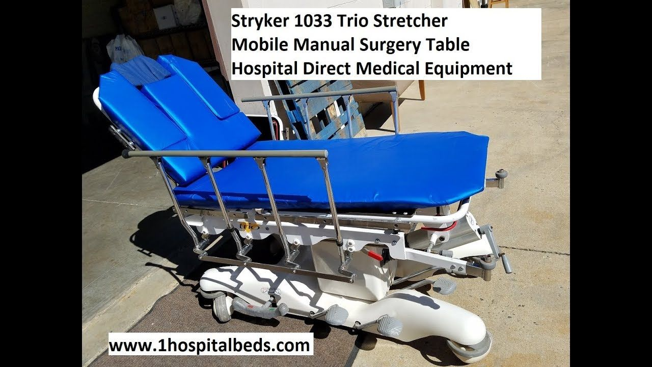 stryker 1033 trio stretcher stretchers and gurneys pinterest rh pinterest com stryker 1115 service manual stryker 1115 big wheel stretcher manual