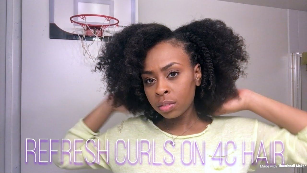 Day 1 how to refresh curls on 4c hair youtube