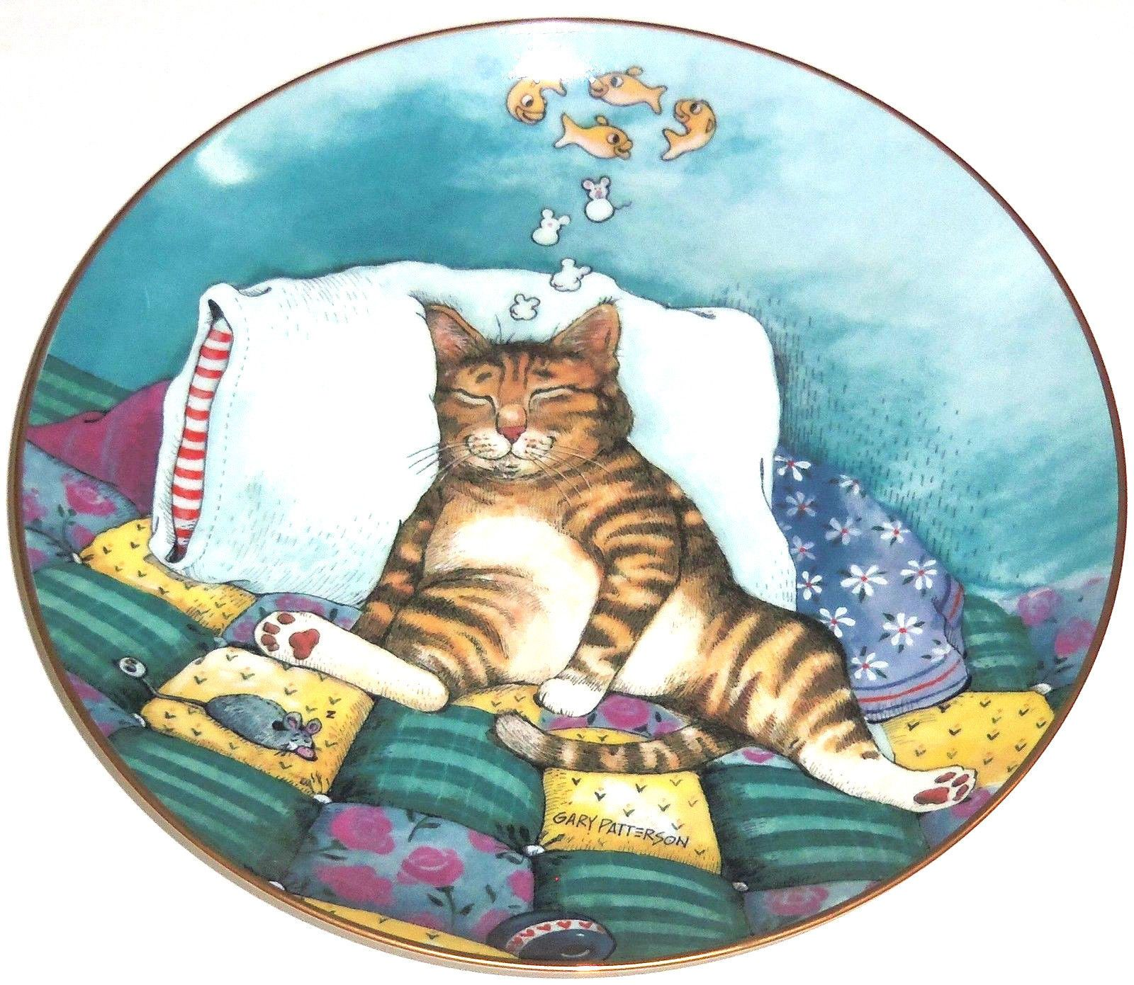 Cat Nap Kitty Collector Plate Nap Comical Cats Danbury