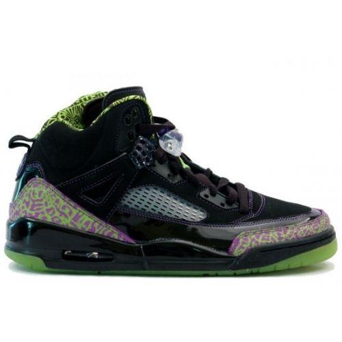 5239c5d8d98d83 Air Jordan Spizike Euro Exclusive Black Lime Green Purple Cactus Violet  315371-031  56.00