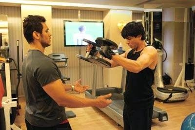 Image result for shahrukh khan workout