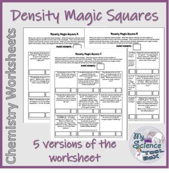 Density And Percent Error Challenge 5 Different Versions 55 Unique Questions Density Worksheet Density Challenges