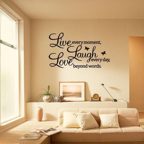 90 X 22 Large Vine Butterfly Wall Decals Removable: Removable Pvc Live Laugh Love Art Letter Room Mural Wall