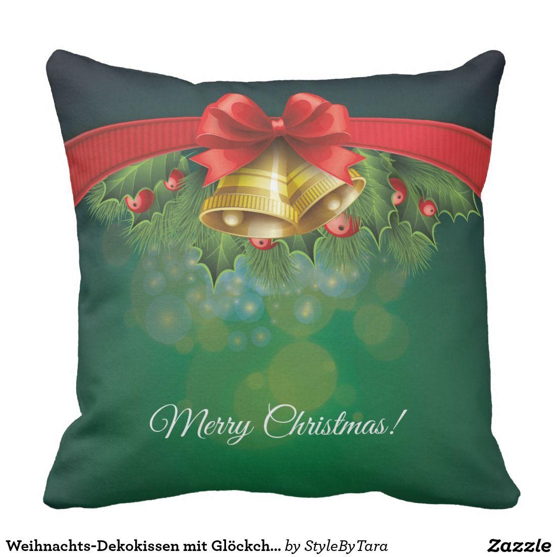 Weihnachts-Dekokissen mit Glöckchen Kissen