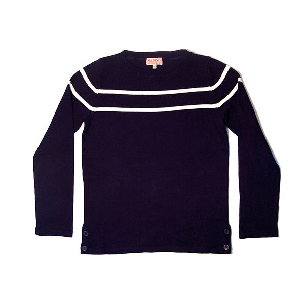 MADRAS SAILOR PULLOVER WOMEN NAVY (1,835 MXN) ❤ liked on Polyvore ...
