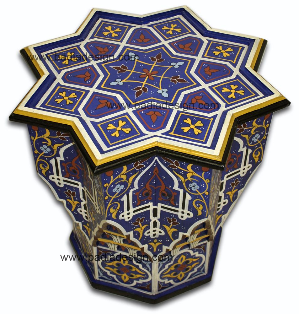 Mediterranean living room los angeles by badia design inc - Hand Painted Star Shaped Side Table Hps301