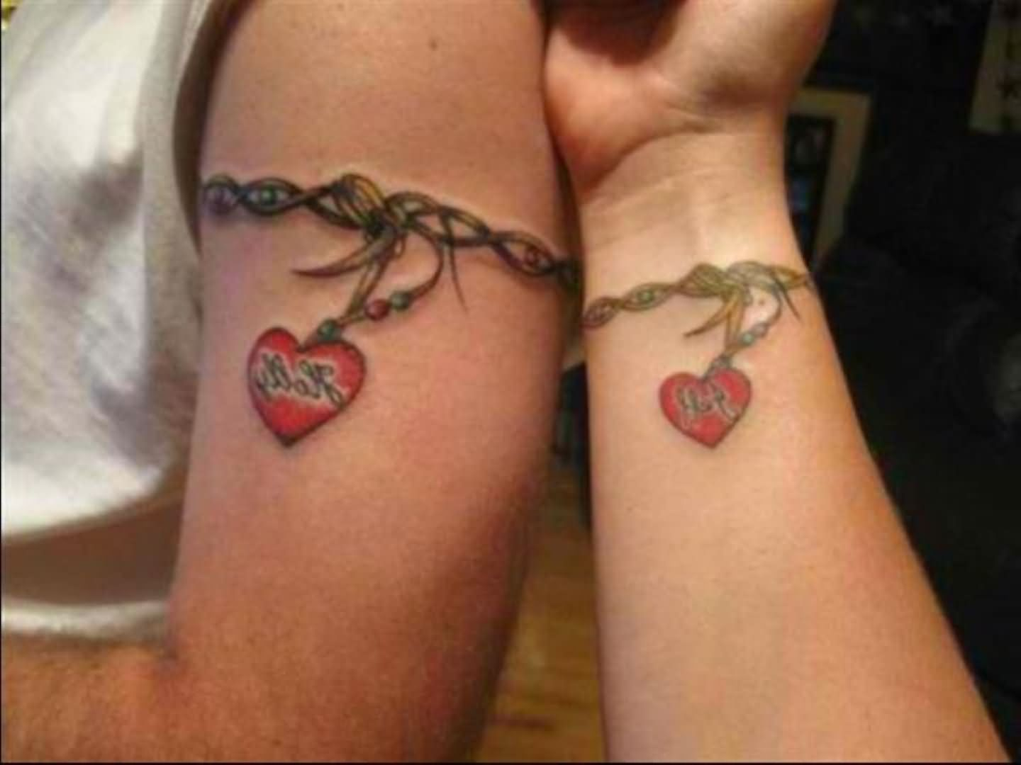 Tattoo ideas for married couples - Armband And Wrist Band Couple Tattoo