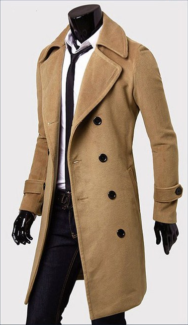 e4ea16054f41 Fashionable Casual Style Long Sleeves Solid Color Slimming Double Breasted  Coat For Men found on dresslily.com