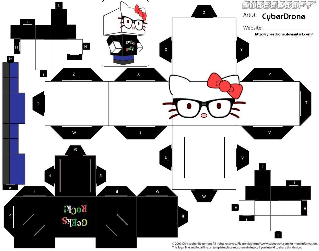 Hello Kitty Papercraft Pdf