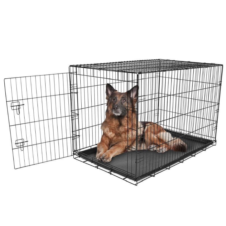 Xxl Dog Crate Extra Large Kennel Wire Pet Cage Folding House 1 Door