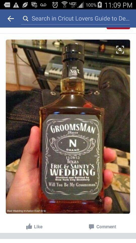 Cricut Made Groomsmen Gifts Wedding Groomsmen Be My Groomsman