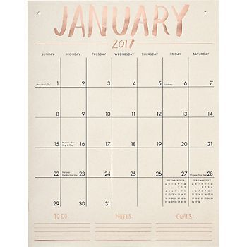 Paper Source Tall On The Wall Calendar 2017 Paper Source