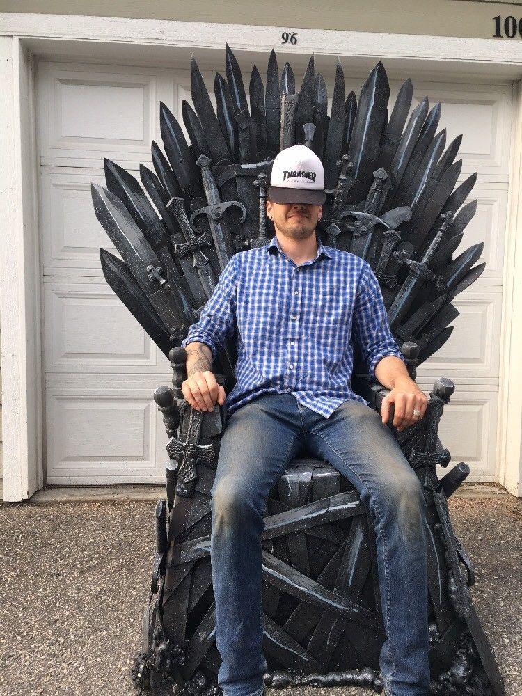 Game of thrones throne life size wow hbo season iron
