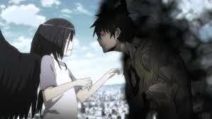 Maou vs Lucifer    I'd be scared too lol #Anime #Hataraku