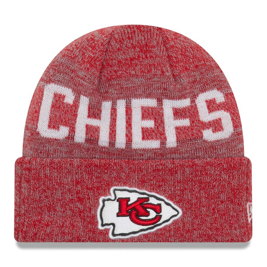 d657840a178 Men s Kansas City Chiefs New Era Red Crisp Color Cuffed Knit Hat ...