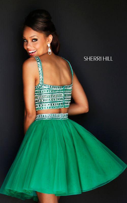 Emerald Sherri Hill 11060 Short Two Piece Prom Dress