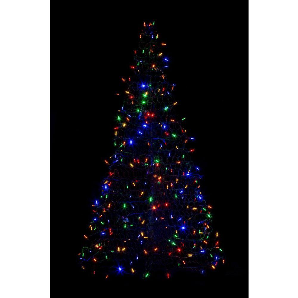 5 ft indooroutdoor pre lit led artificial christmas tree with indooroutdoor pre lit led artificial christmas tree with green frame aloadofball Gallery