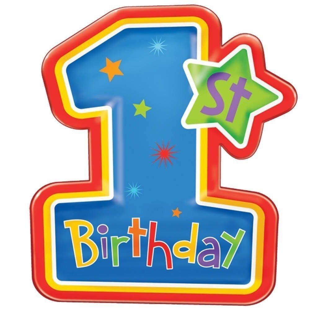 amscan international plate snack primary 1st bday first birthday rh pinterest nz first birthday clip art free first birthday clipart girl