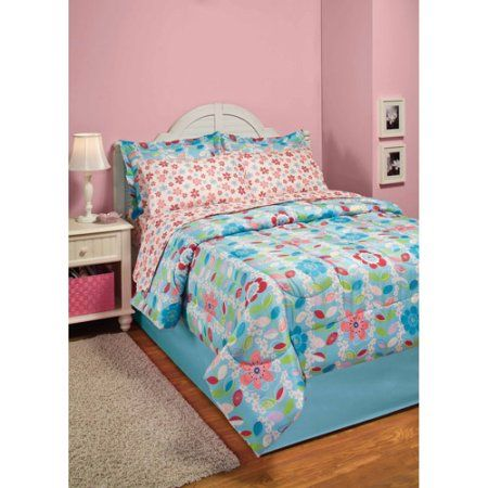 InStyle Lexie Microfiber Bed in a Bag, Floral, Pink