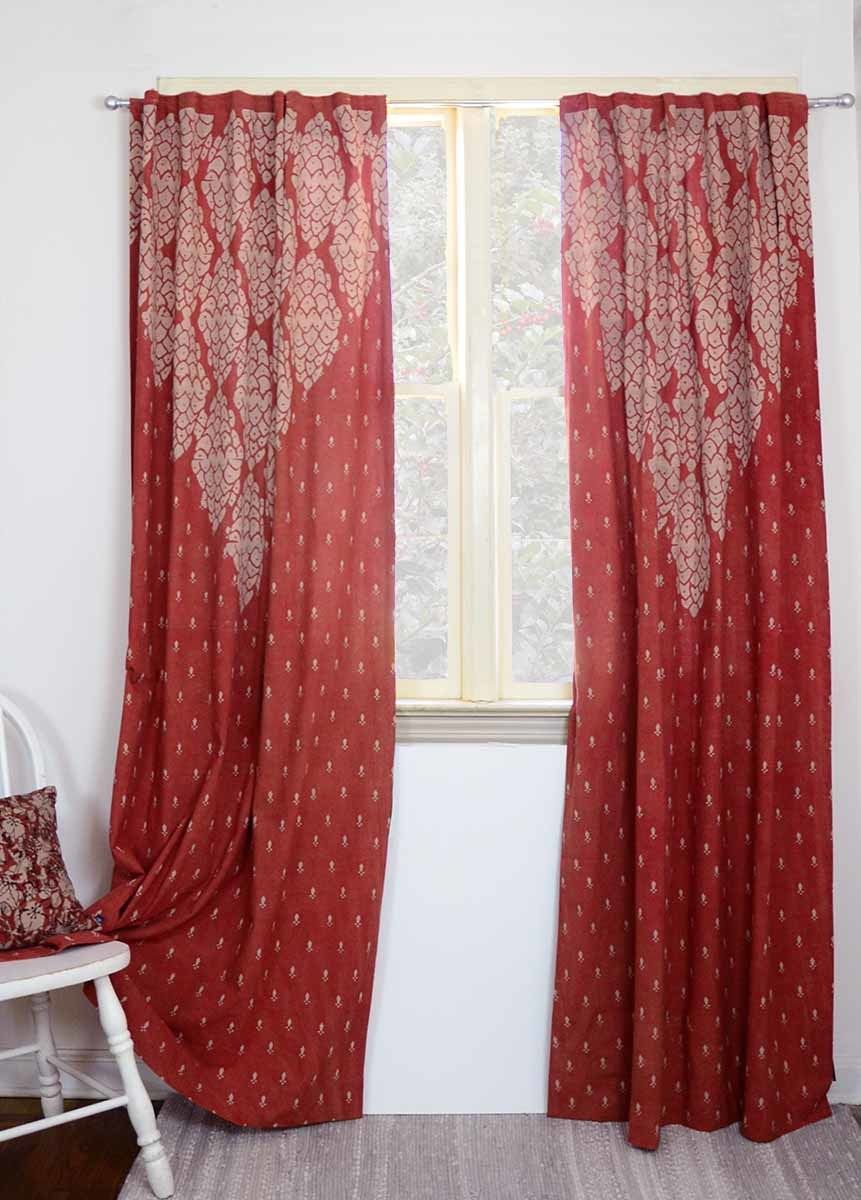 Shanti Red Curtains Unique Curtains Bedroom Drapes Red Curtains