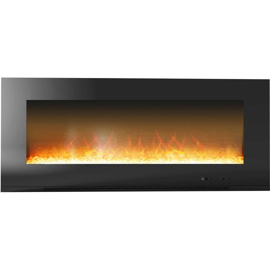 Cambridge 56 In W Black Fan Forced Electric Fireplace Cam56wmef