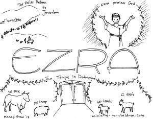 Book of Ezra coloring page Kidmin Prophets