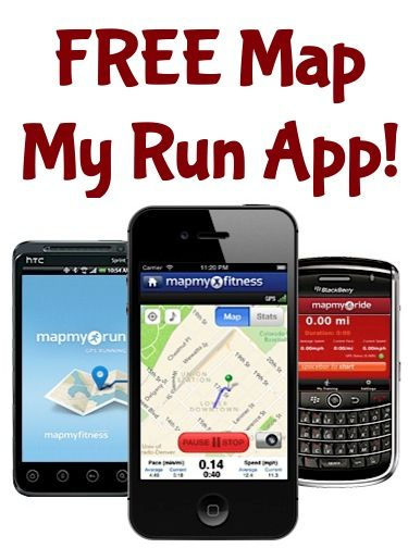 FREE 'Map My Run' App! {iPhone or Android} fitness