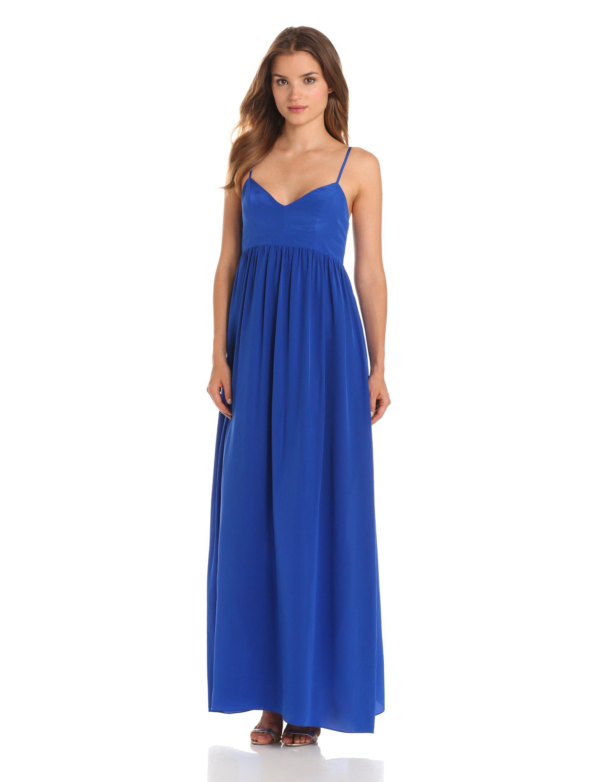 Amanda Uprichard Women\'s Silk Gown Maxi Dress at Amazon Women\'s ...