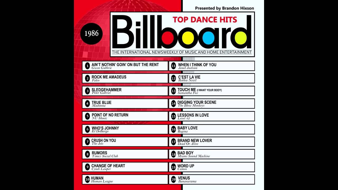 billboard top dance hits 1986 2016 full album music
