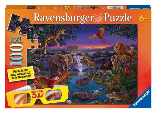 African Animals at Night Chromadepth Puzzle « Game Searches