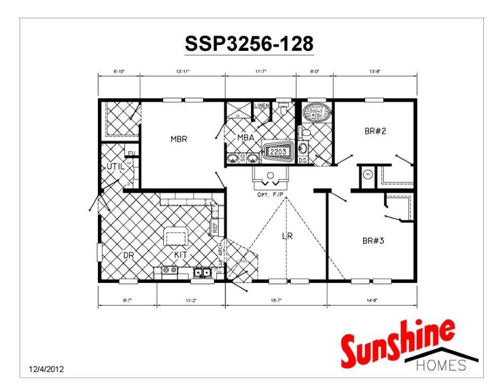 Floor Plan Layout Presidential Ssp3256 128 View All Sunshine