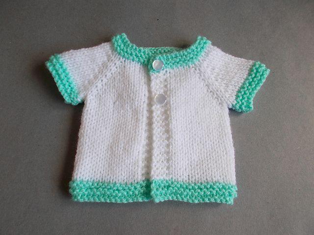 Ravelry: Tiny Topaz - Premature Baby Jacket pattern by marianna mel ...