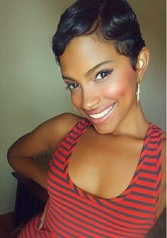 Short Pin Curl Hairstyles For Black Hair Google Search Sassy Hair Hair Styles Short Hair Styles