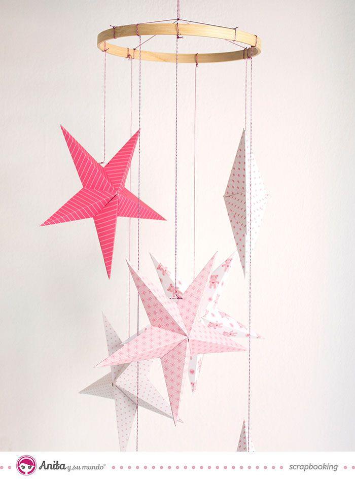 C mo hacer un m vil para beb con estrellas de papel - Estrellas de papel ...