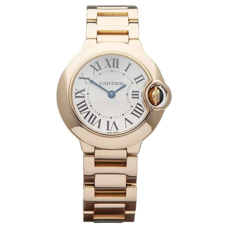 8573ae7873f Cartier Ladies Rose Gold Ballon Bleu Quartz Wristwatch Ref W3338 ...