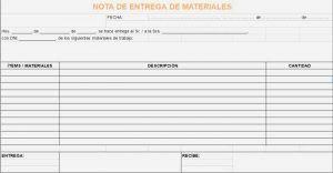 Plantilla De Nota De Entrega De Materiales Ejemplos De Notas Plantilla De Notas Notas