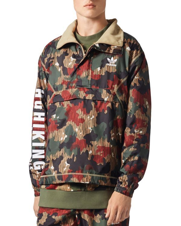 adidas Originals x Pharrell Williams Hu Hiking Camouflage Quarter-Zip  Windbreaker