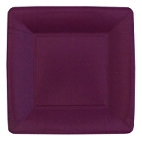 Grosgrain Red Square 10 Inch Paper Plates Platesandnapkins Com Burgundy Baby Shower Baby Shower Purple Purple Plates
