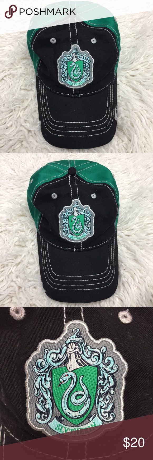 Slytherin Dad Hat from Harry Potter World Universal Studios authentic  product. Reasonable offers are always welcome! Please no trades 🌸 harry  potter ... 502be49dc65