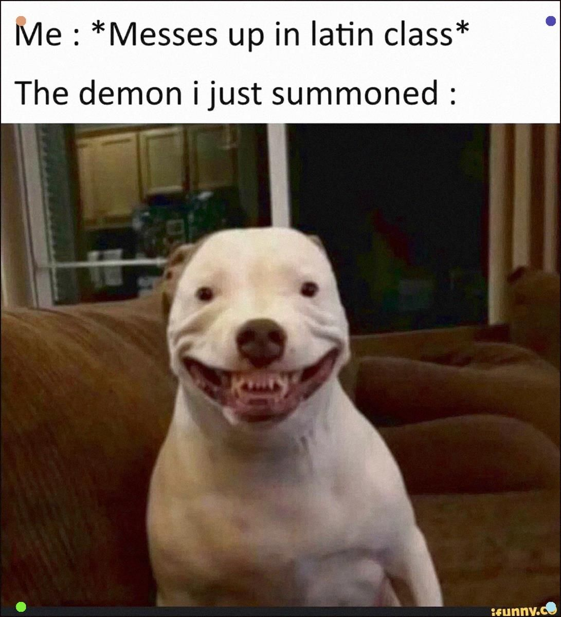 Me Messes Up In Latin Class The Demon Ijust Summoned Popular Memes On The Site Ifunny Co Scifi Funny Relatable Memes Really Funny Memes Stupid Funny Memes