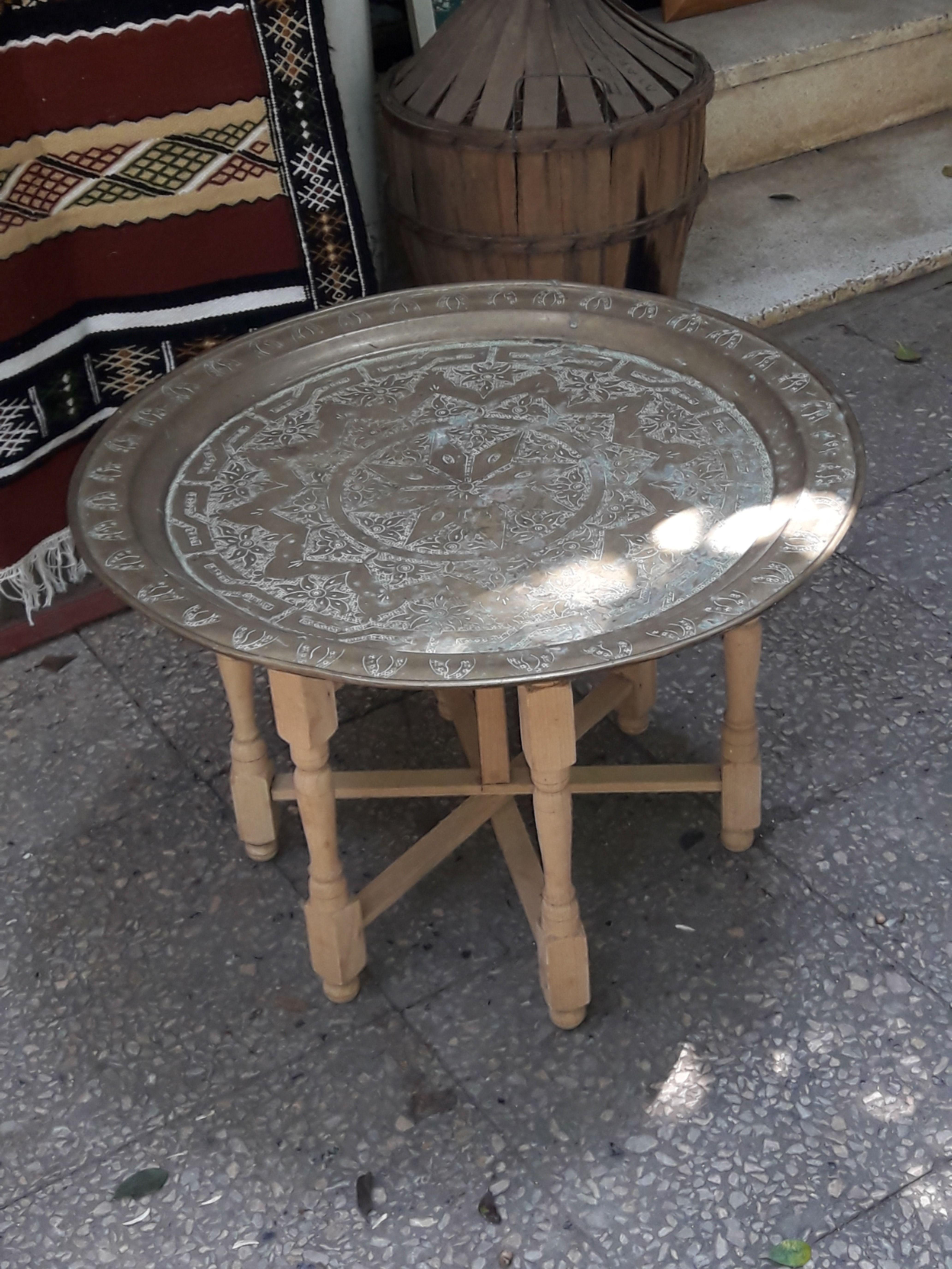 Table Basse Traditionnelle Algerienne En Cuivre In 2020 Decor Furniture Coffee Table