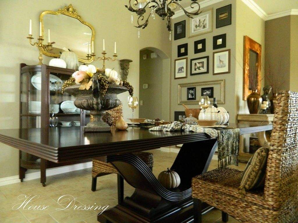 Formal Table Dining Room Decorating Ideas Wall Decor Using Photograph
