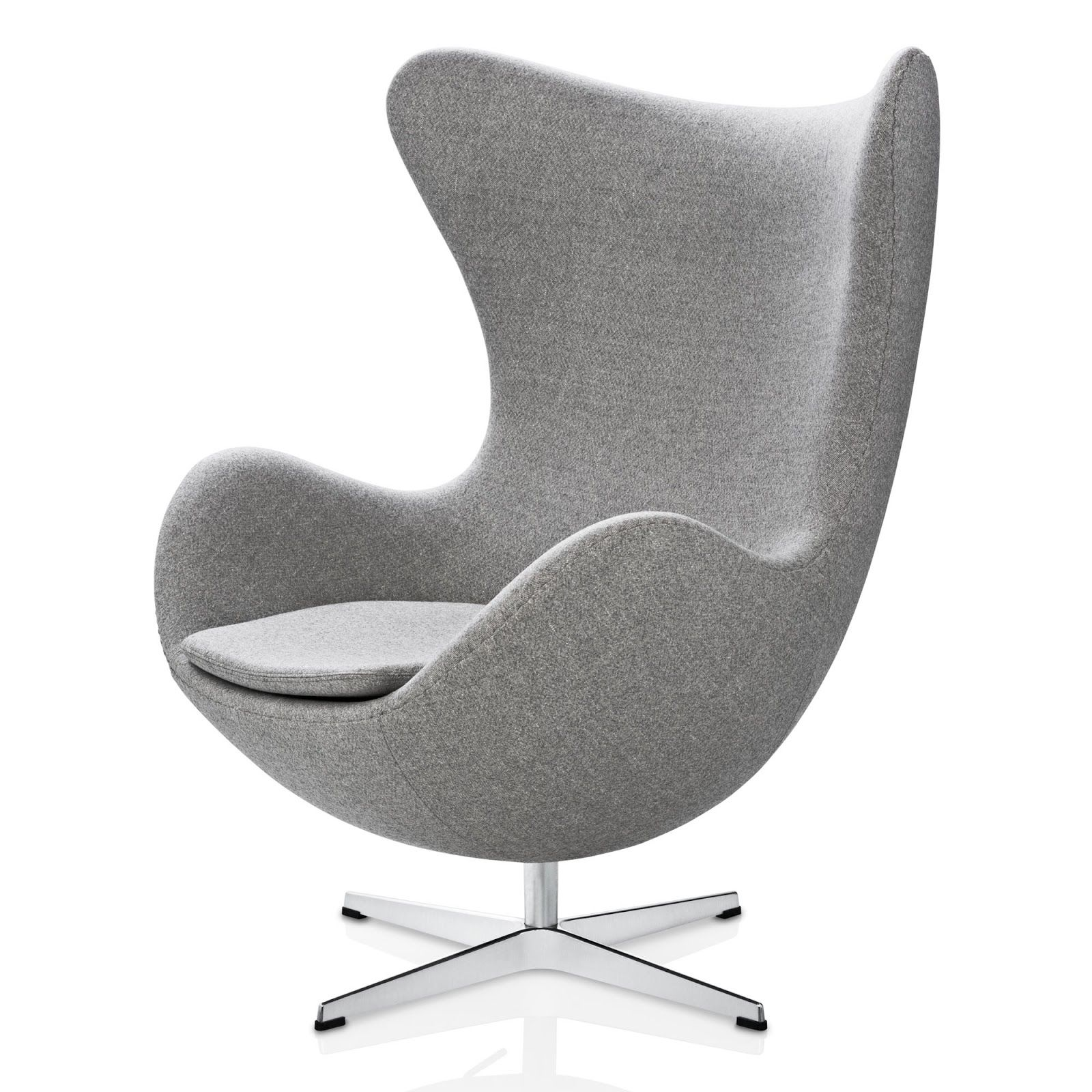 Arne jacobsen egg chair white - Arne Jacobsen Egg Chair In Light Gray Fabric Wellhouzz