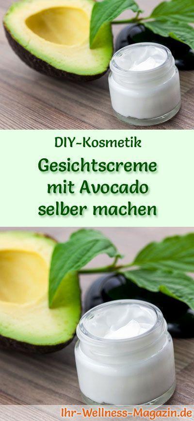Gesichtscreme mit Avocado selber machen - Rezept und Anleitung #diyskincare