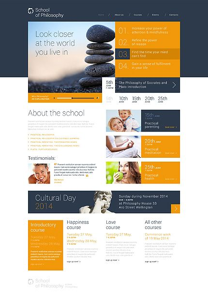 Wordpress 3 X Theme 49548 School Of Philosophy Website Design Inspiration Education Wordpress Themes