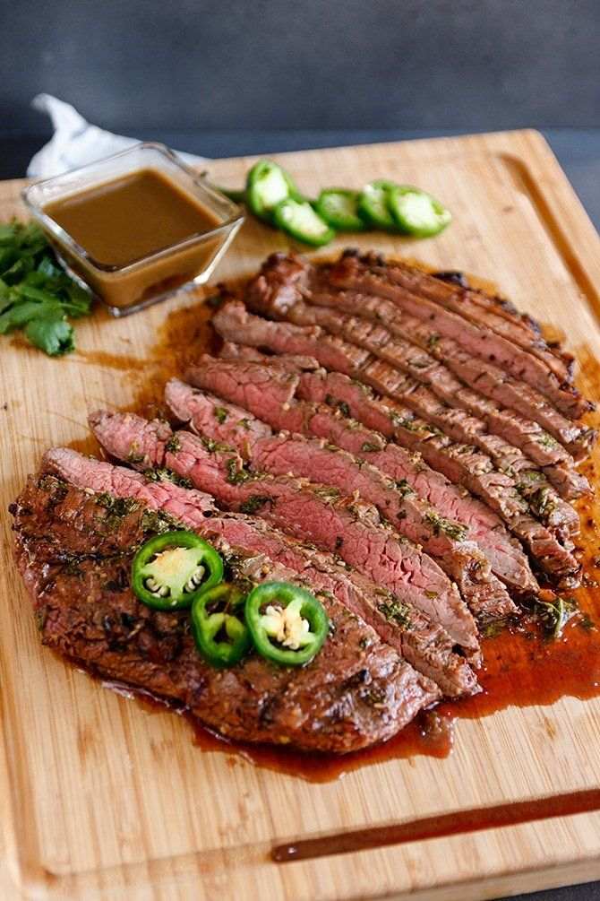 Tequila Lime Flank Steak - Jennifer Meyering