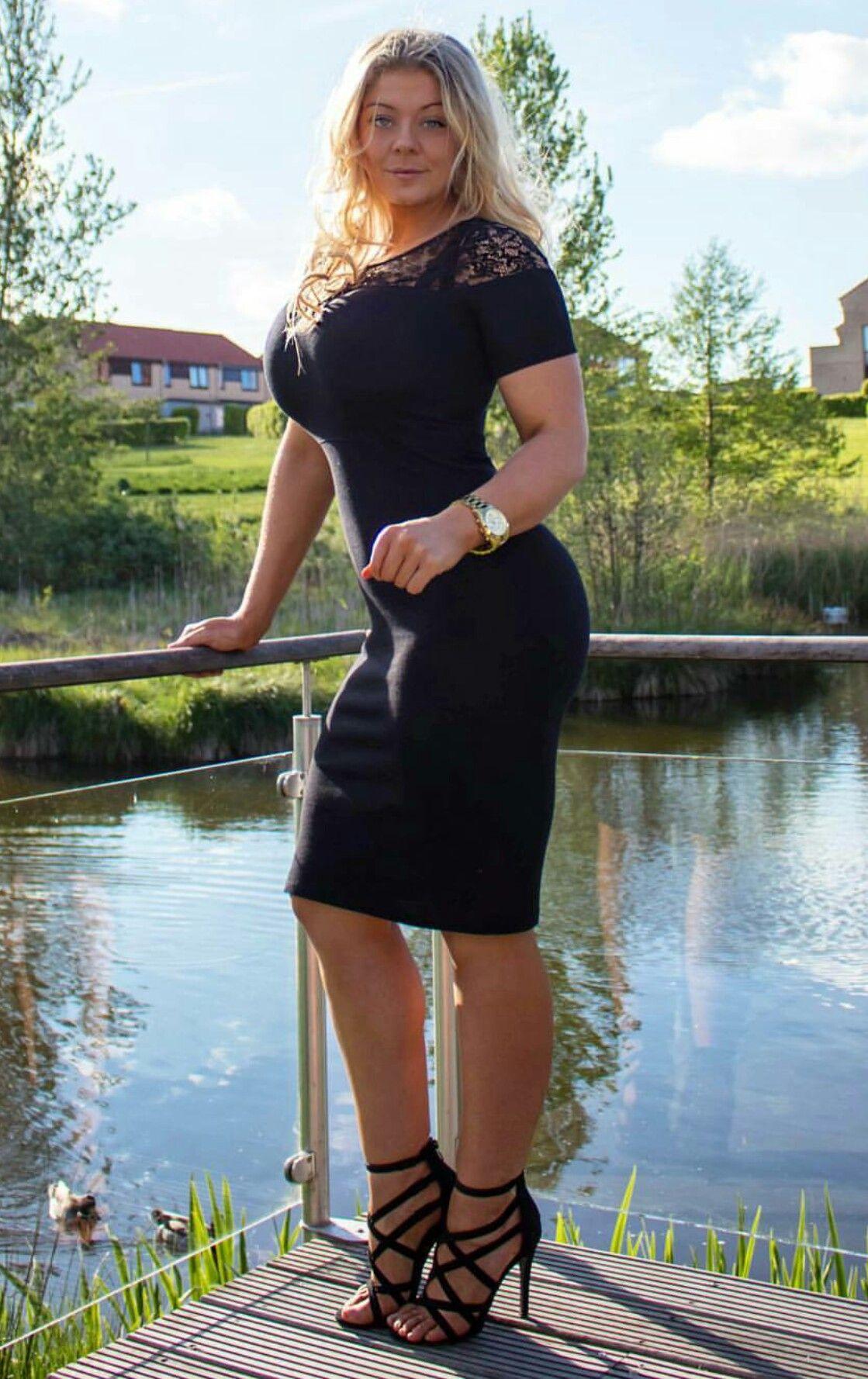 Mia Sand in her  littleblackdress  MissMiaFit  blonde  curves  Beautiful   fitnessmodel  Denmark 94b4ef16f3