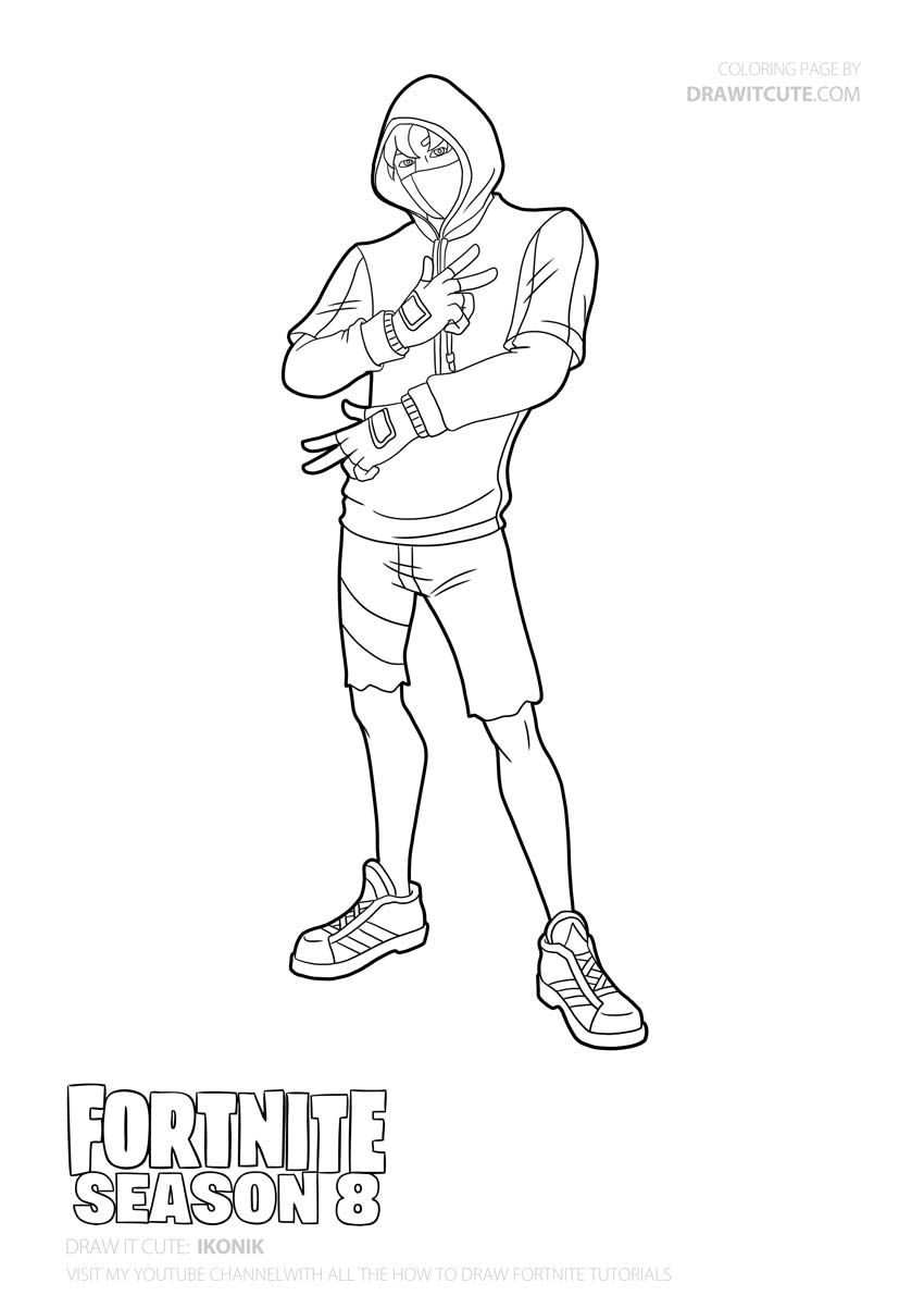 How To Draw Ikonik Easy Fortnite Season 8 Tutorial Draw It Cute Coloriage Gratuit Coloriage A Colorier Coloriage