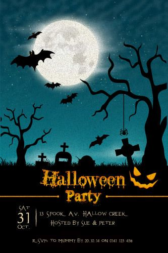 Halloween Party Invitations - Halloween Nights | Halloween Party