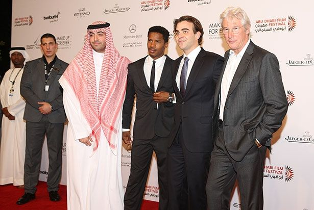 Screen legend Richard Gere, the star of the opening night thriller Arbitrage, joined by co-star Nate Parker, one of Hollywood's rising stars, along with the films' director Nicholas Jarecki, and producer Mohammed Al Turki.